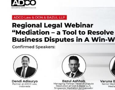 "Regional Legal Webinar: ""Mediation – A Tool to Resolve Business Disputes in A Win – Win Mode"""
